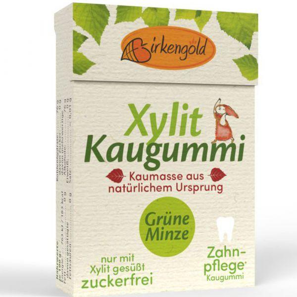 Birkengold Xylit Kaugummi Grüne Minze