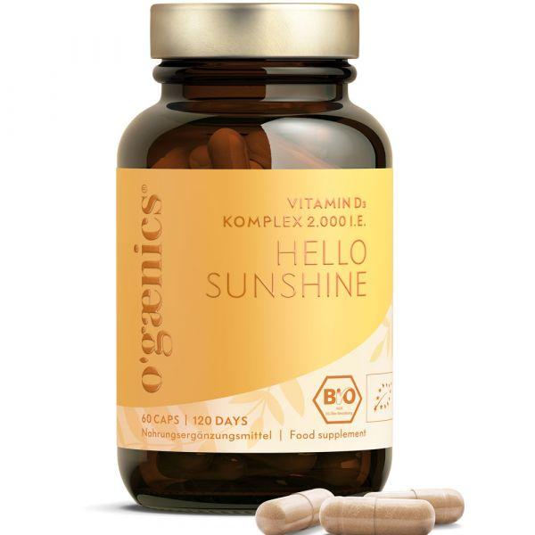 Ogaenics HELLO SUNSHINE  Plant-Based Vitamin D 2000 I.E.