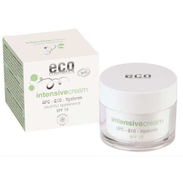 Eco Cosmetics Intensivcreme LSF 15 OPC Q10 und Hyaluron