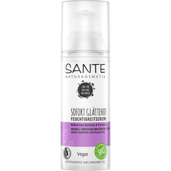 Sante Sofort Glättende Feuchtigkeitscreme Natürliches Hyaluron & Parakresse