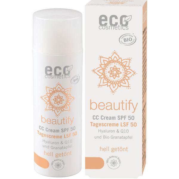 Eco Cosmetics CC Creme getönt LSF 50 hell