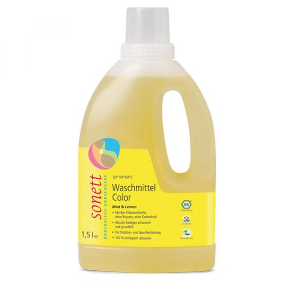 Sonett Waschmittel Color Mint & Lemon 1,5 Liter