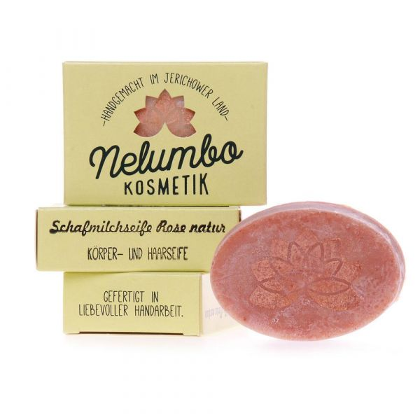 Nelumbo Kosmetik Schafmichseife Rose natur