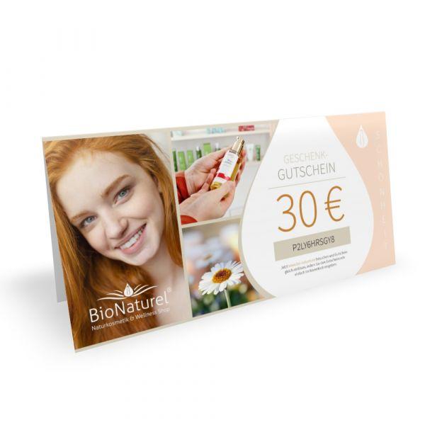 BioNaturel Geschenk Gutschein 30 Euro