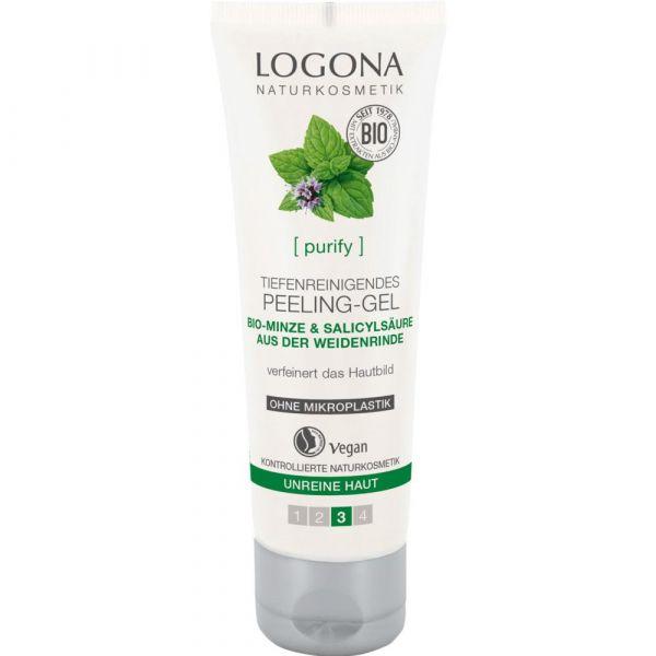 Logona tiefenreinigendes Peeling-Gel Bio-Minze & Salicylsäure aus Weidenrinde