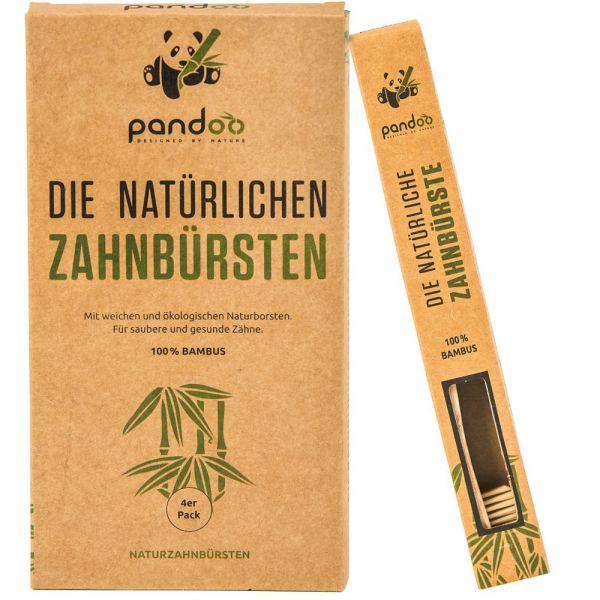 pandoo Bambus-Zahnbürste Natur