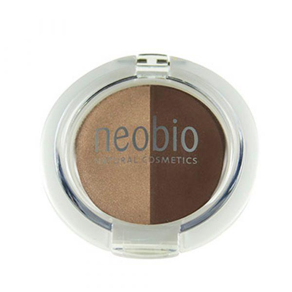 Neobio Eyeshadow Duo No. 02 brown champagne
