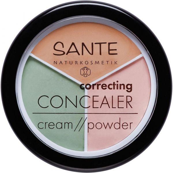 Sante correcting CONCEALER cream powder 3in1