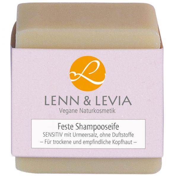 Lenn & Levia Festes Shampoo SENSITIV mit Urmeersalz