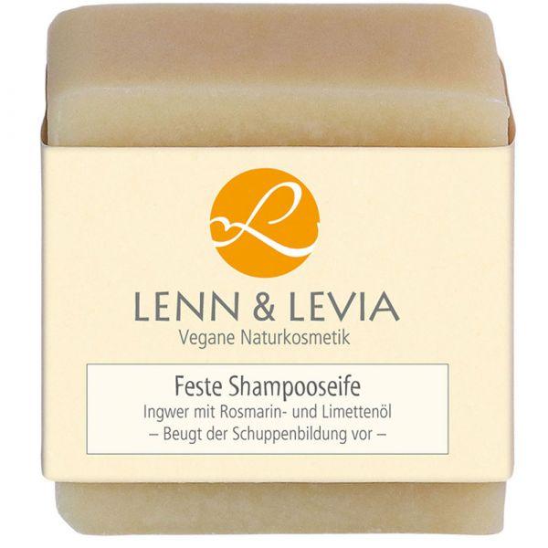 Lenn & Levia Festes Shampoo Ingwer mit Rosmarin- und Limettenöl