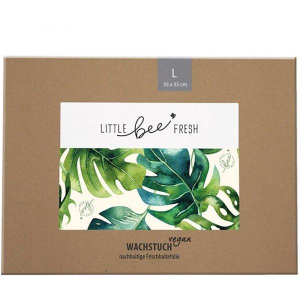 Little bee fresh Wachstuch vegan L Jungle grün