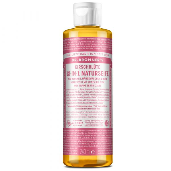 Dr. Bronner´s 18-IN-1 Naturseife Kirschblüte 240ml