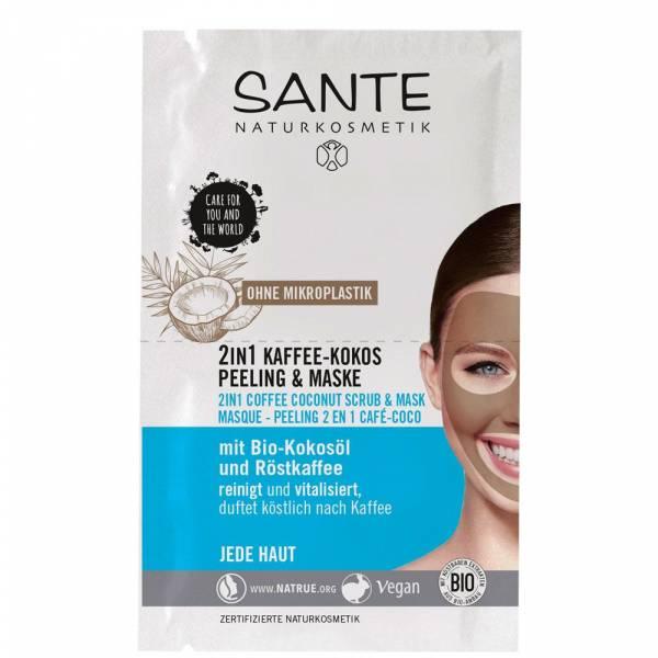 Sante 2in1 Kaffee Kokos Peeling & Maske