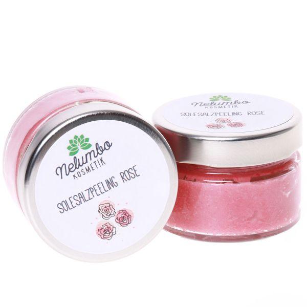 Nelumbo Kosmetik Salzpeeling Rose 150g