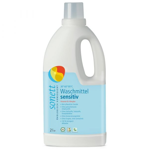 Sonett Flüssigwaschmittel sensitiv 2 Liter