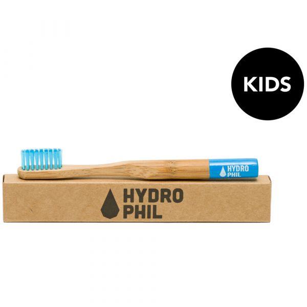 Hydrophil Bambuszahnbürste Kinder blau