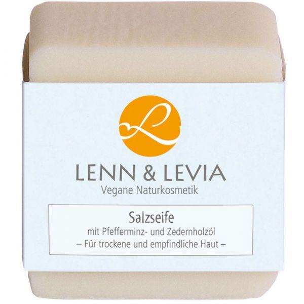 Levia Salzseife mit Pfefferminz und Zedernholzöl
