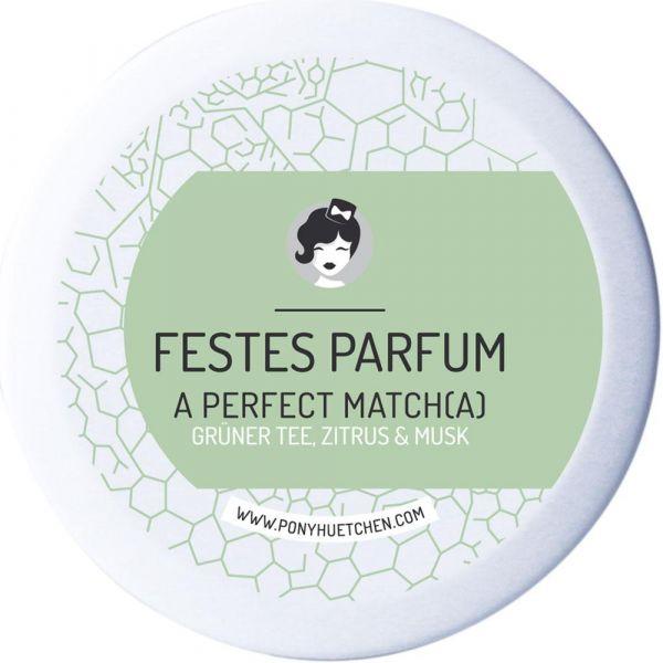 Ponyhütchen Festes Parfum A Perfect Matcha