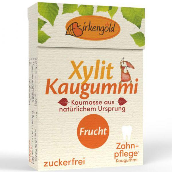 Birkengold Natur Kaugummi Frucht mit Xylit