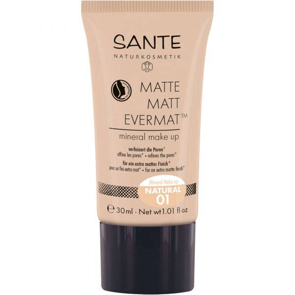 Sante MATTE MATT EVERMAT mineral make up 01 natural