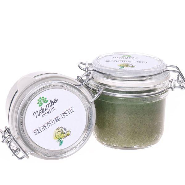 Nelumbo Kosmetik Salzpeeling Limette 250g