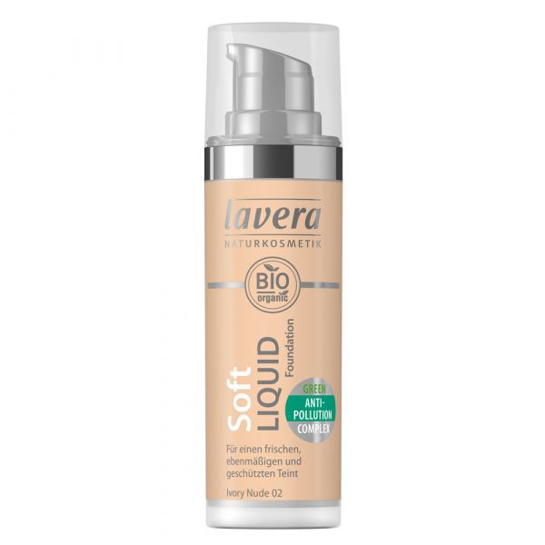 Lavera SOFT LIQUID FOUNDATION Nude 02