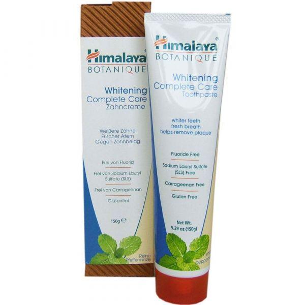 Himalaya Herbals BOTANIQUE WHITENING Complete Care Zahnpasta Pfefferminze Pur