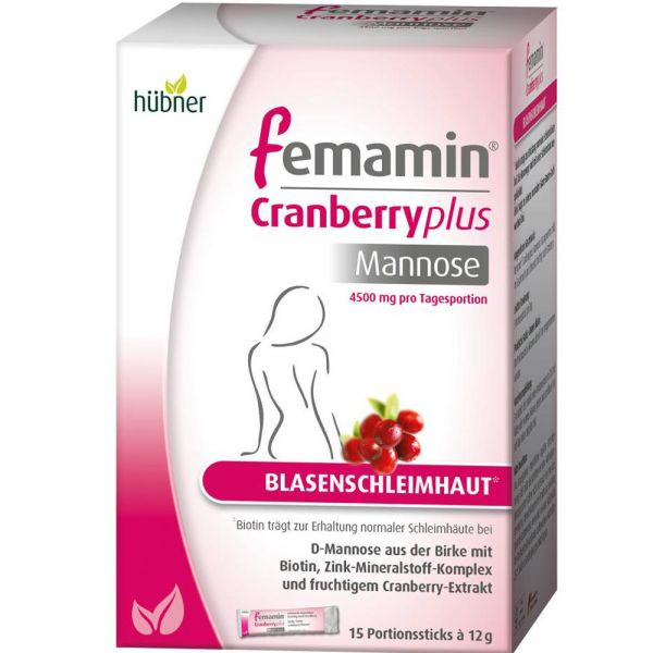 Hübner femamin® Cranberry plus Mannose
