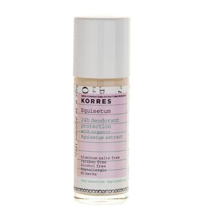 Korres 24h Deodorant Schutz für sehr sensible rasierte Haut