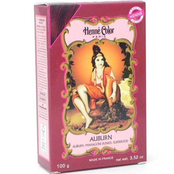 Henné Color Mahagoni auburn Henna Pulver dunkel
