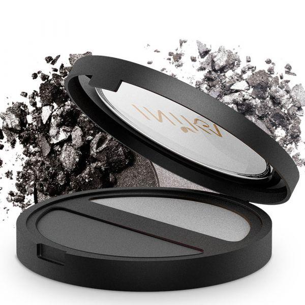 INIKA Organic Pressed Mineral Eye Shadow Duo Platinum Steel