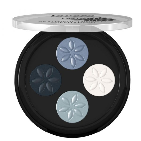 Lavera Beautiful Mineral Eyeshadow Quattro Blue Platinum 07