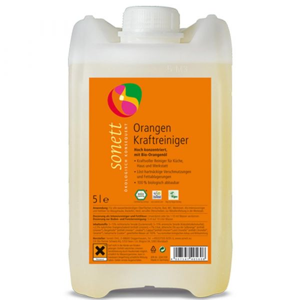 Sonett Orangen Kraft Reiniger  5 Liter