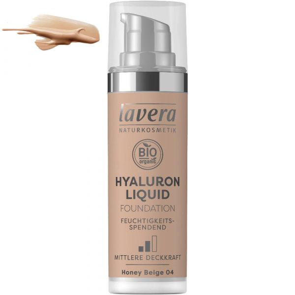 Lavera HYALURON LIQUID FOUNDATION Honey Beige 04