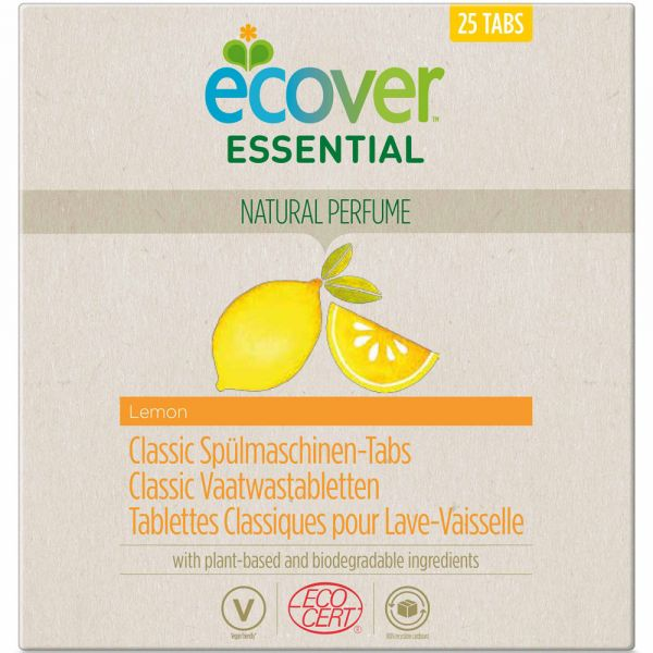 Ecover Essential Classic Spülmaschinen Tabs Zitrone 25 Stück