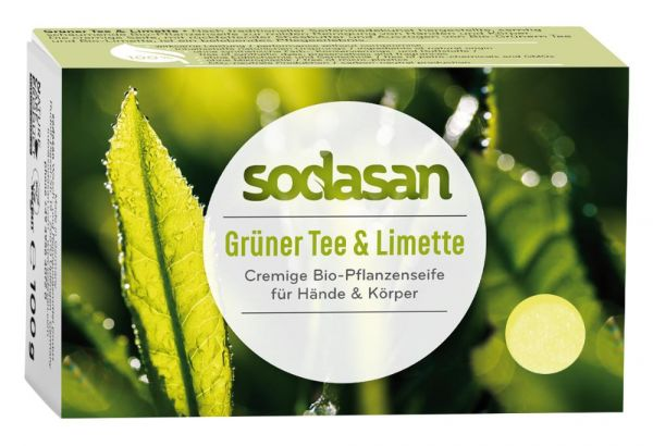 Sodasan Pflanzenseife Grüner Tee & Limette