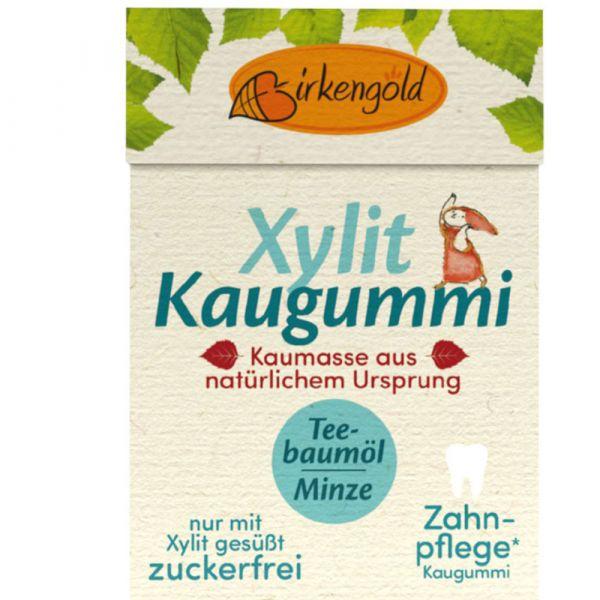 Birkebgold Xylit Kaugummi Teebaumöl Natur