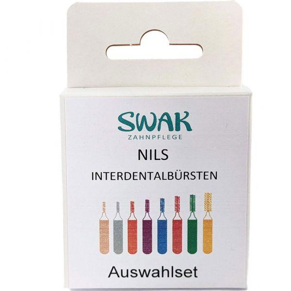 SWAK-IN Interdentalbürsten Auswahlset 8 Farben Borstengröße 2.0mm-7.5mm