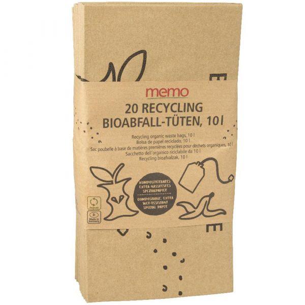 Memo Recycling Bioabfall Tüten 10Liter