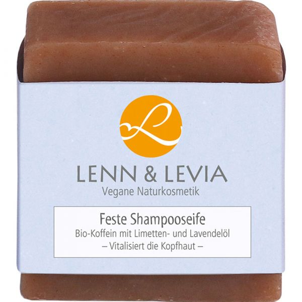 Lenn & Levia Festes Shampoo Bio-Koffein mit Limetten- und Lavendelöl