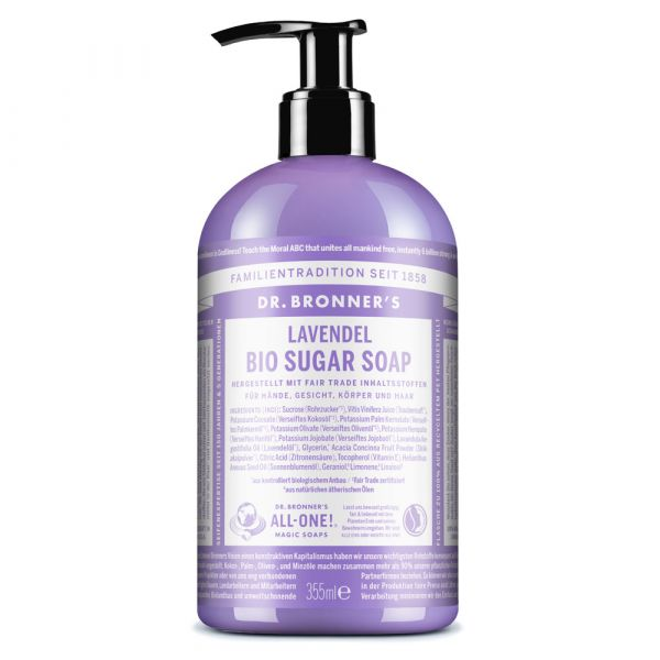 Dr. Bronners Bio Sugar Soap Lavendel 355ml