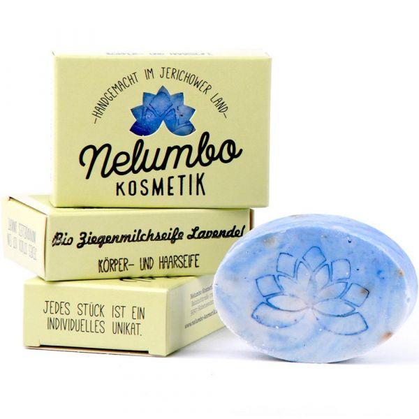 Nelumbo Kosmetik Ziegenmilchseife Lavendel