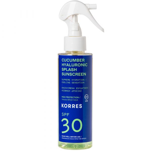 Korres CUCUMBER HYALURONIC SPLASH 2-Phasen-Sonnenschutzspray für Gesicht und Körper SPF30
