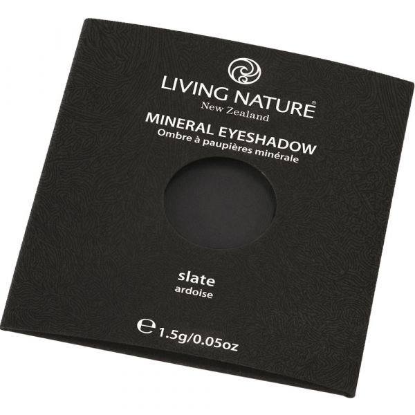 Living Nature Eye Shadow Slate Schiefer grau schwarz