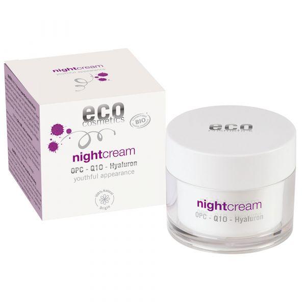 Eco Cosmetics Nachtcreme OPC Q10 und Hyaluron
