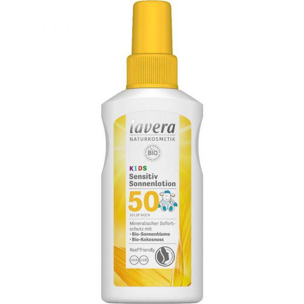 Lavera SENSITIV SONNENLOTION LSF 50+ KIDS Bio-Sonnenblume & Bio-Kokonuss