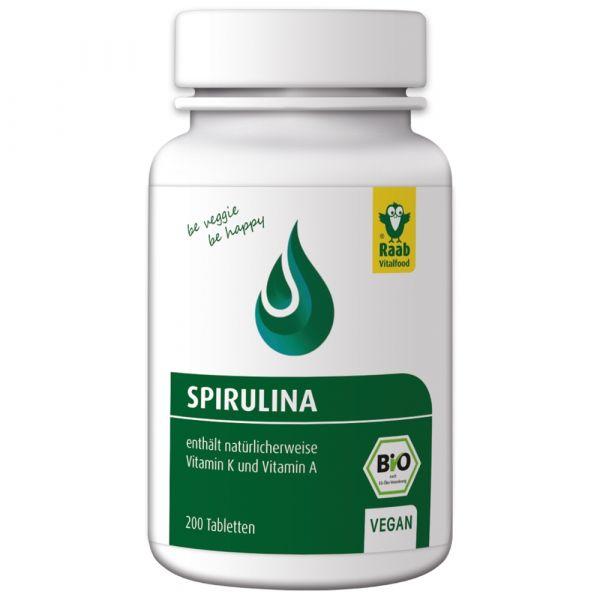 Raab Vitalfood Spirulina Tabletten Dose bio
