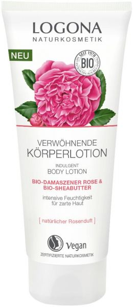 Logona Verwöhnende Körperlotion Bio Damaszener Rose & Bio Sheabutter