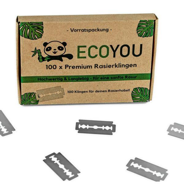ECOYOU Rasierklingen für Rasierhobel 100 Stück