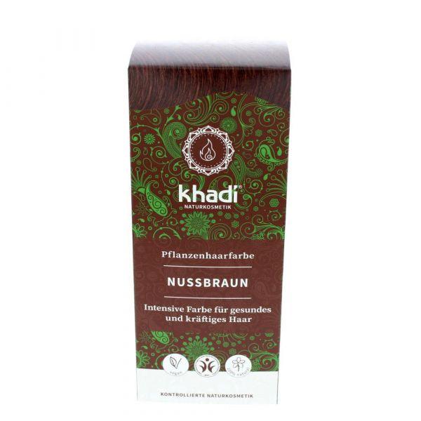 Khadi Pflanzenhaarfarbe natürliches Nußbraun 100g